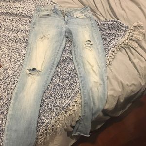 Faded ripped AE jeans